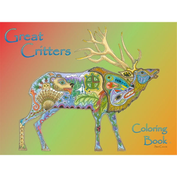 EarthArt Coloring Book Great Critters