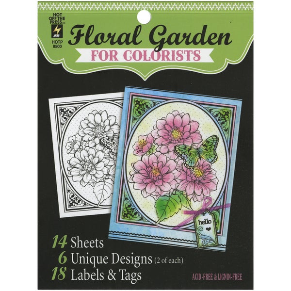Hot Off The Press Colorist Coloring Book 5inX6in Floral Garden