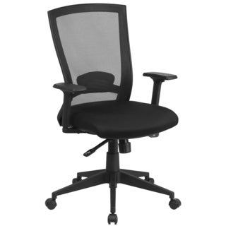 Steen Black Mesh Executive Swivel Office Chair with Back Angle Adjustment