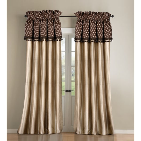 Gold and Brown Silk Curtain Panel