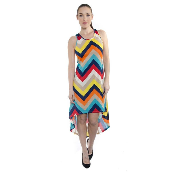 Women's High-Low Stripe Summer Maxi Dress
