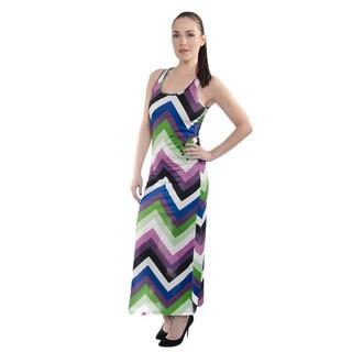 Women's Summer Stripe Mesh Back Maxi Dress