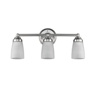 Chloe Transitional 3-light Brushed Nickel Bath/Vanity Light