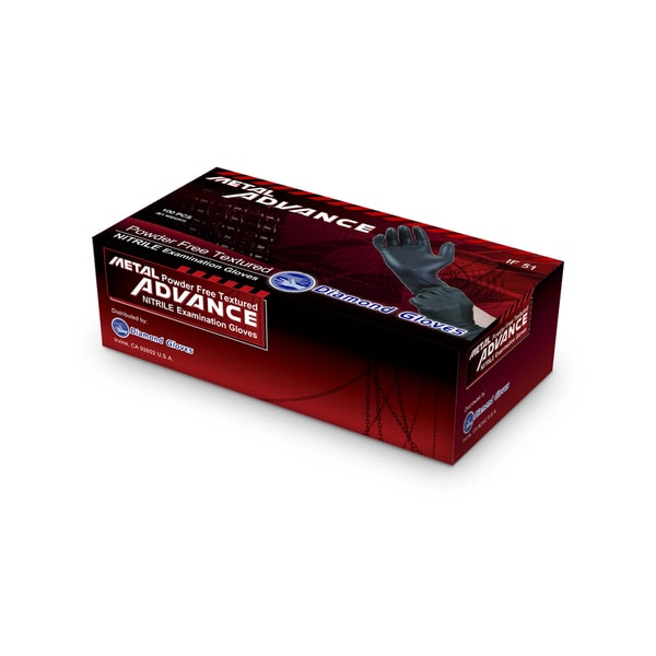 Metal Advance Black Nitrile Examination 5-mil Powder Free Textured Gloves (Pack of 1000)