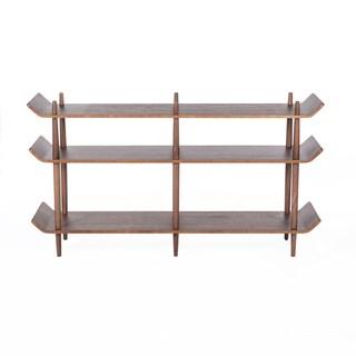 Furniture of america karrise walnut display shelf for Furniture of america danbury modern
