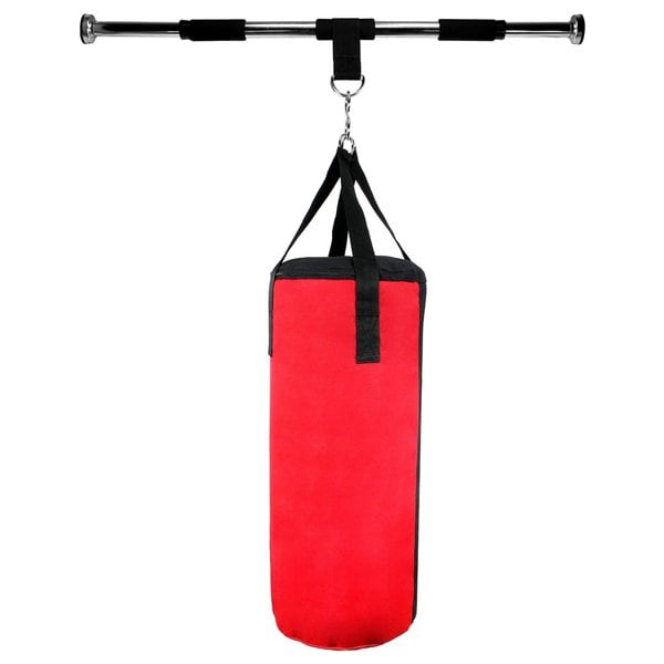 Velocity Boxing MMA Sport Pro Doorway Frame Punching Bag with Tough Air/Water Filled Bag, Adjustable Horizontal Bar