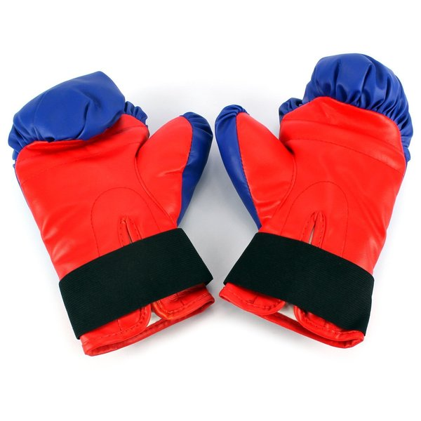 """Velocity Boxing Children's Deluxe Freestanding Reflex Punching Bag w/ Pair of Gloves, Adjustable Height 35 - 53"""" (Red/Blue)"""