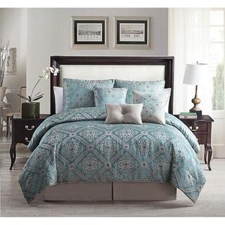 Alberson Teal 7-piece Print Comforter Set