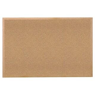 Wood Frame Natural Corkboard, 24-inch x 36