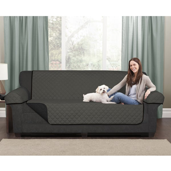 Maytex Reversible Microfiber Sofa Pet Cover