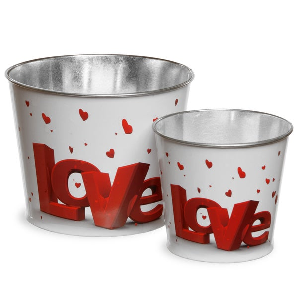 Assortment Valentine Tin Pots