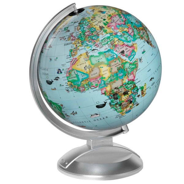 Globe 4 Kids Rev. new animals,plants,SouthSudan,silver base
