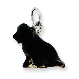 Sterling Silver Enameled Newfoundland Terrier Charm