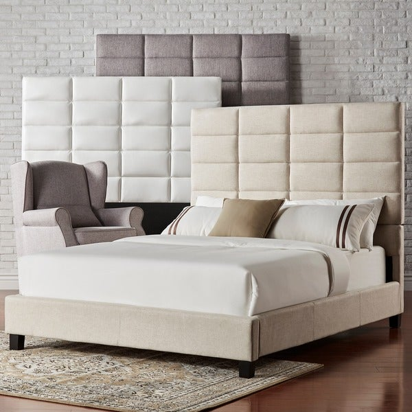 INSPIRE Q Tower High Profile Upholstered King-Size Platform Bed