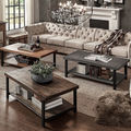 TRIBECCA HOME Cyra Industrial Reclaimed Rectangular Cocktail Table