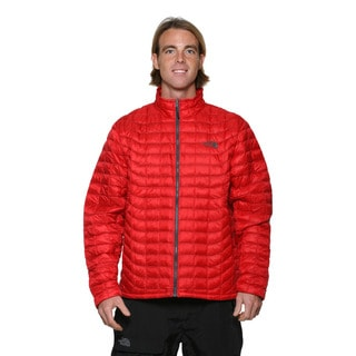 The North Face Men's TNF Red and Asphalt Grey Thermoball Jacket