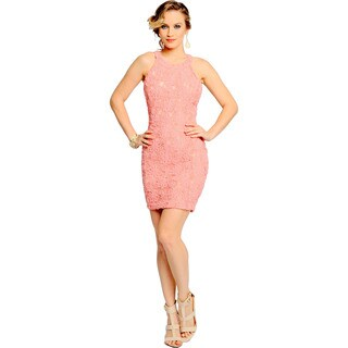 Sara Boo Women's Pink Lace Dress