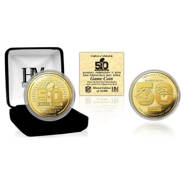 Super Bowl 50 Gold Flip Coin 17263295