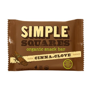 Simple Squares Organic Cinnamon-Clove Nutrition Bars (Pack of 12)