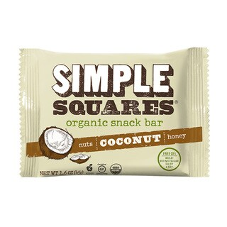 Simple Squares Organic Coconut Nutrition Bars (Pack of 12)