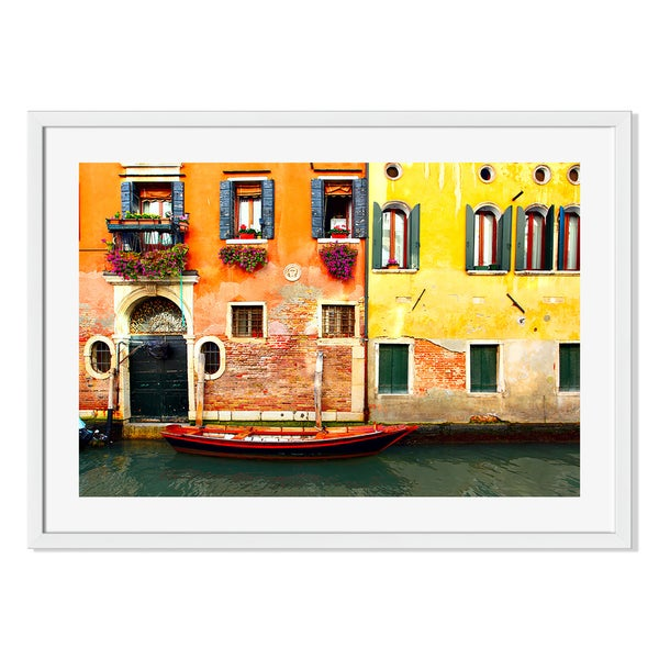 Gallery Direct Canal in Venice Print on Paper Framed Print