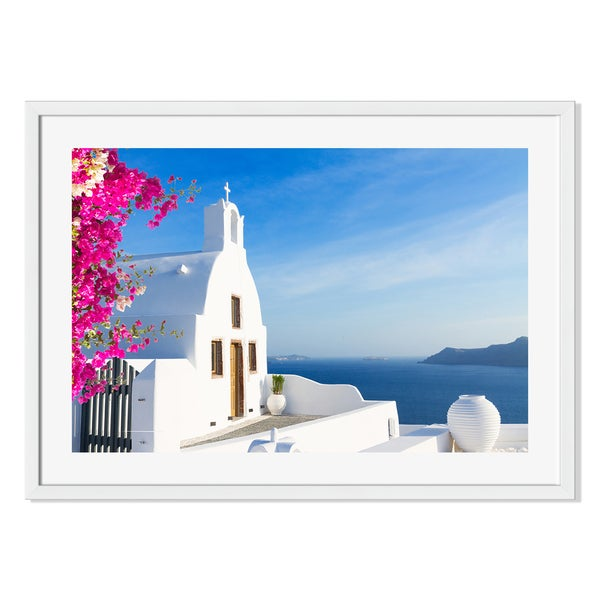 Gallery Direct Santorini View Print on Paper Framed Print