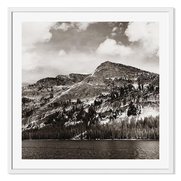 Gallery Direct Snowy Mountain Lake Print on Paper Framed Print
