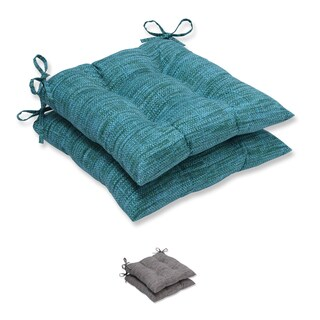 Pillow Perfect Outdoor/ Indoor Remi Wrought Iron Seat Cushion (Set of 2)
