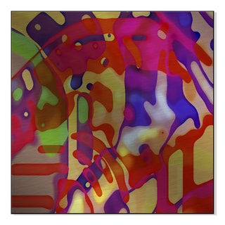 Gallery Direct Neon Streets IV Print by Christine Wilkinson on Mounted Metal Wall Art