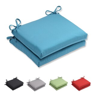 Pillow Perfect Outdoor/ Indoor Tweed Squared Corners Seat Cushion (Set of 2)