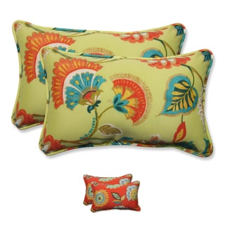 Pillow Perfect Outdoor/ Indoor Woodcourt Rectangular Throw Pillow (Set of 2)