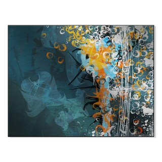Gallery Direct Abstract Mixed Media Background Print on Mounted Metal Wall Art