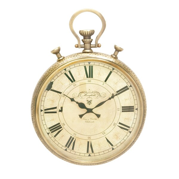 Gold Aluminum Wall Clock