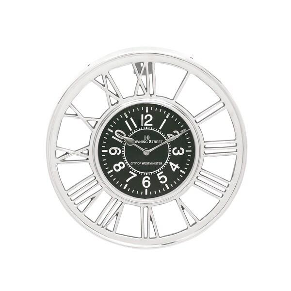 Silver Aluminum Wall Clock