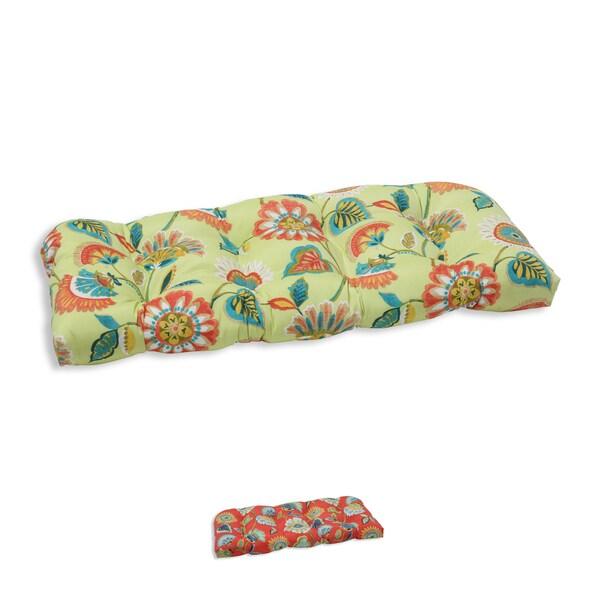 Pillow Perfect Outdoor/ Indoor Woodcourt Wicker Loveseat Cushion 17263834