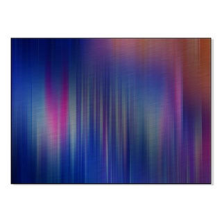 Gallery Direct Abstract Striation Pattern Print on Mounted Metal Wall Art