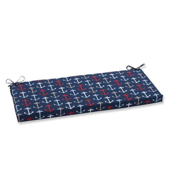 Pillow Perfect Outdoor/ Indoor Anchor Allover Arbor Navy Bench Cushion 17263873
