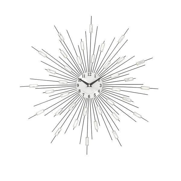 Silver Metal Acrylic Wall Clock