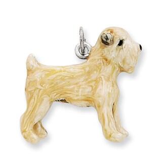 Sterling Silver Enamel Soft Coated Wheaton Terrier Charm