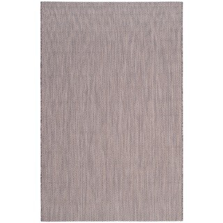 Safavieh Indoor/ Outdoor Courtyard Brown/ Beige Rug (6' 7 x 9' 6)