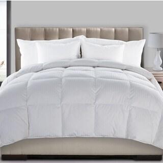 Fusion Medium Warmth Dobby Stripe 300 Thread Count Suprelle Hyper Down Blend Comforter