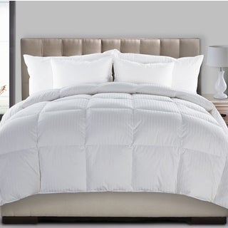 Fusion All Season Dobby Stripe 300 Thread Count Hyper Down Blend Comforter