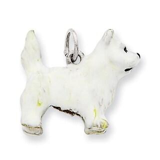 Sterling Silver Enameled West Highland Terrier Charm
