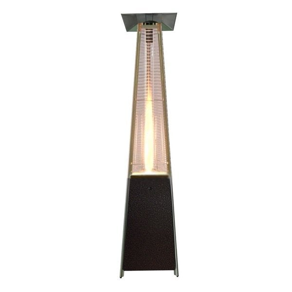 Duramax Outdoor Patio Heaters, Patio Heater with Quartz Glass Tube in Hammered Bronze - Pyramid Style