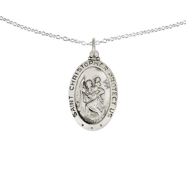 Sterling Silver St.Christopher Medal