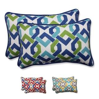 Pillow Perfect Outdoor/ Indoor Reiser Rectangular Throw Pillow (Set of 2)