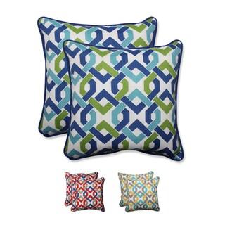 Pillow Perfect Outdoor/ Indoor Reiser 18.5-inch Throw Pillow (Set of 2)