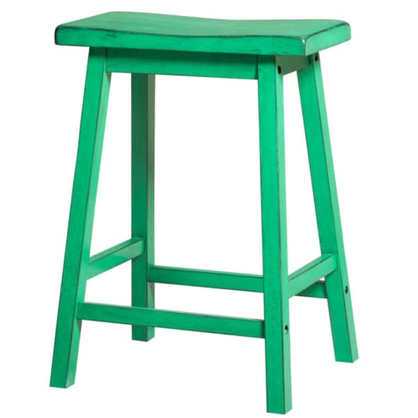 Gaucho Antique Green Bar Stool Set Of 2 18171743