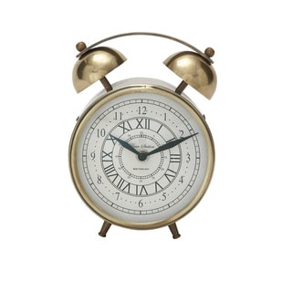 Gold Metal 7-inch Table Clock