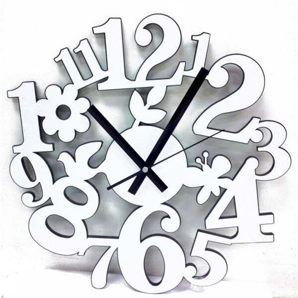 Modern Trendy Butterfly Clock